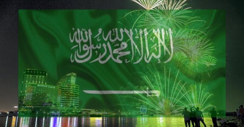 Saudi Celebrates National Day with Fireworks, Concerts, & Art Exhibits