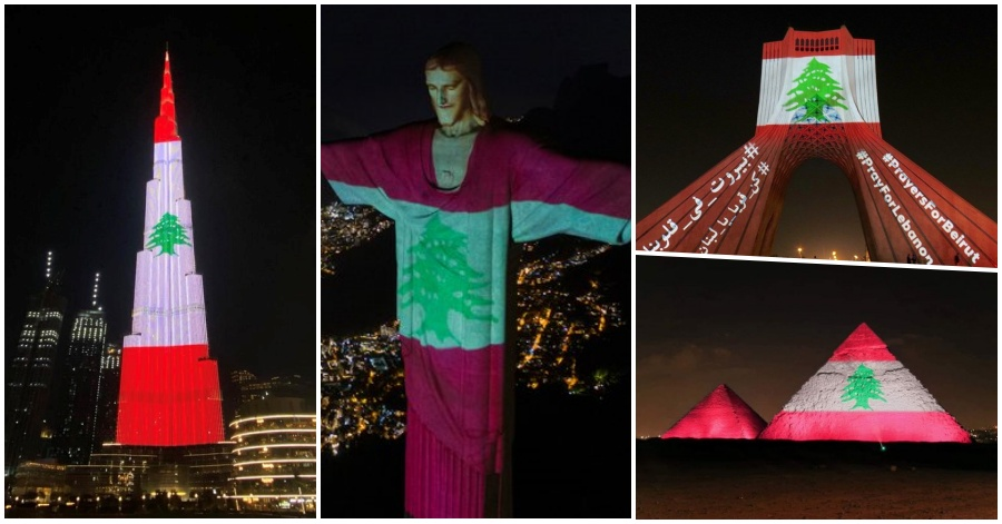 Pray for Lebanon, Countries Light Up Lebanese Flag in Solidarity after Beirut Explosion