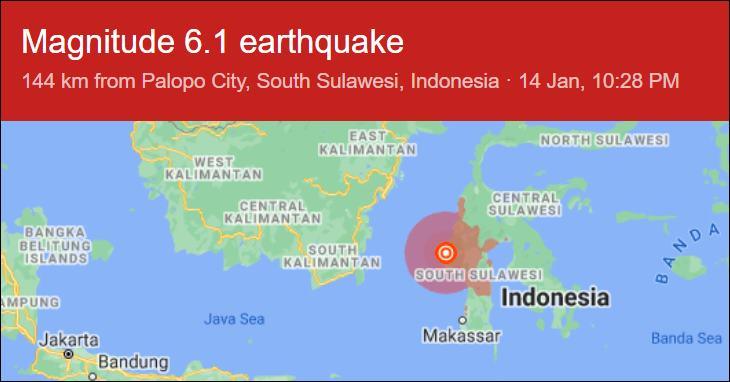 6.2 magnitude earthquake indonesia
